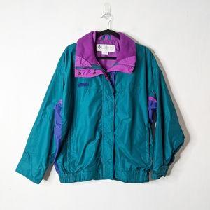 Vtg 90s Columbia Bugaboo Teal Jacket